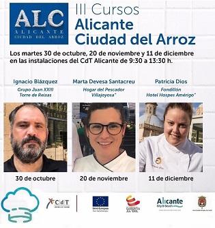 """""""Alacant ciutat de l'arròs"""" vol convertir a cuiners i xefs en autèntiques autoritats en els plats amb aquest producte"""
