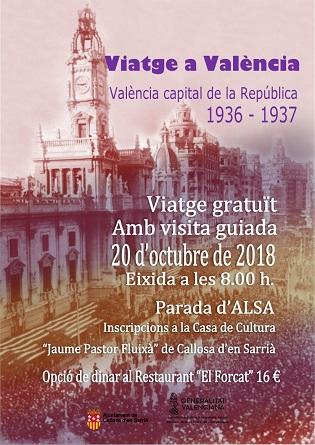 Viatge gratuït per la València de la República des de Callosa d'en Sarrià