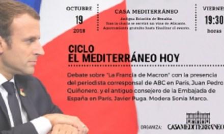 """Debate sobre """"La Francia de Macron"""" en Casa Mediterráneo"""