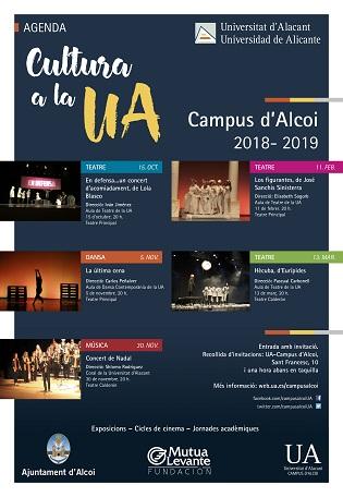 Comienza la programación cultural en el Campus de Alcoy con la obra teatral «En defensa… un concierto de despedida»