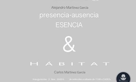 """Exposición """"presencia-ausencia. Esencia & HABITAT"""" de Alejandro y Carlos Martínez en la Galería ACAS de Elche"""