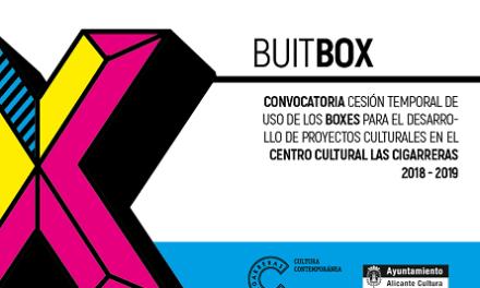 La regidoria de cultura d'Alacant obri la convocatòria per a la cessió de Boxes en el Centre Cultural Las Cigarreras