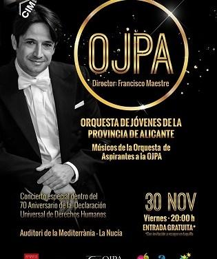 Concierto de la Orquesta de Jóvenes de la Provincia de Alicante –OJPA- en el Auditori de la Mediterrània