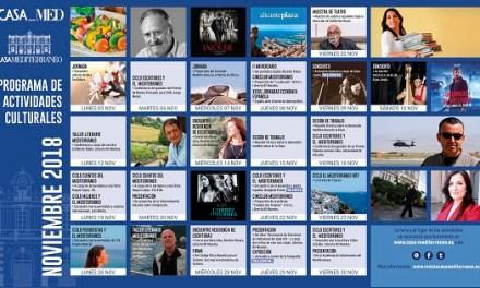 La literatura i el periodisme protagonitzen la programació de novembre de Casa Mediterráneo
