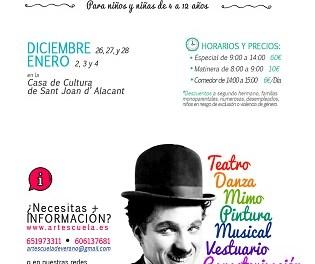 Artescuela Navidad 2018 para la infancia en Sant Joant d´Alacant
