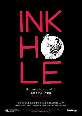 """El Museu Soler Blasco de Xàbia estrena aquest divendres l'exposició """"Ink in hole"""" de l'il·lustrador Fércalcer"""
