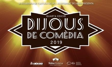 "Cultura Xàbia convoca el IV concurso amateur de ""Dijous de Comèdia"" dotado con 500 euros para el ganador"