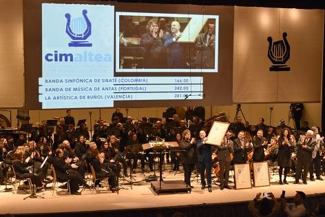 La Sociedad Musical 'La Artística' de Buñol gana la 45 edición del Certamen Internacional de Bandas de Música Vila d'Altea