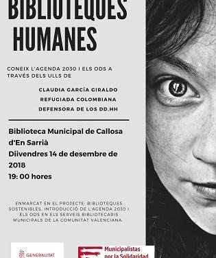 """La Biblioteca l'Espill de Callosa d'en Sarrià acoge el próximo viernes un encuentro con """"Libros humanos"""" sobre los Objetivos de Desarrollo Sostenible"""
