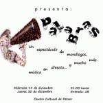 """El Taller Municipal de Teatro de Petrer estrena la obra """"Palabras"""" en el Centro Cultural los días 19 y 20 de diciembre"""