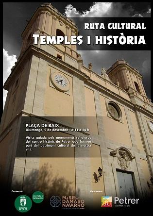 """Petrer muestra su patrimonio menos conocido con la """"Ruta Cultural: Templos e historia"""""""