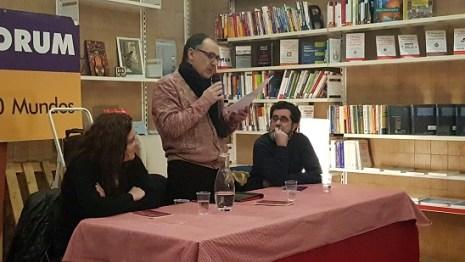 Esther Abellán, Javier Cebrián i Mariano Sánchez. Foto: Juanjo Cervetto