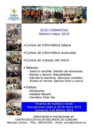 El Ayuntamiento de Alicante tiene abierto el plazo de inscripción de las actividades gratuitas del Centro de Recursos de Consumo hasta el 28 de enero