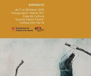 Joan-Ives Pasqual expone sus obras pictóricas en la Casa de Cultura de Callosa