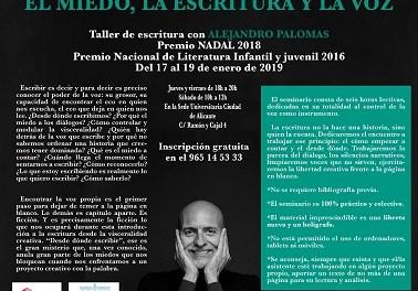 """Taller d'escriptura creativa d'Alejandro Palomas: """"La por, l'escriptura i la veu"""""""