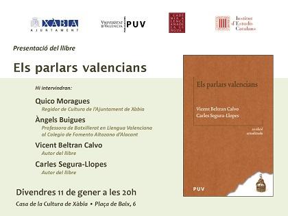 """""""Els Parlars Valencians"""" es presenta el divendres a Xàbia"""