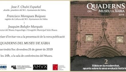 """El segundo número de """"Quaderns del Museu"""" retrata la Xàbia de la época moderna"""