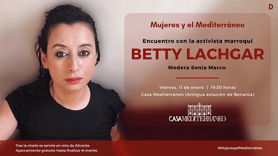 L'activista marroquina Betty Lachgar, a Casa Mediterráneo