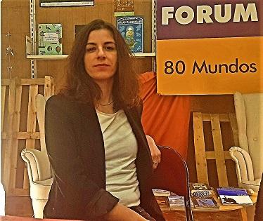 La dramaturga croata Vedrana Klepica en la librería 80 Mundos de Alicante