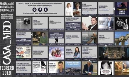 La gastronomía, la literatura y la fotografía protagonizan la programación de febrero en Casa Mediterráneo