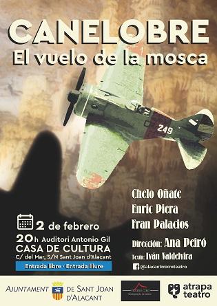 """Atrapa Teatro estrena a Sant Joan """"CANELOBRE. El vuelo de la mosca"""", una història dels últims dies de la República"""