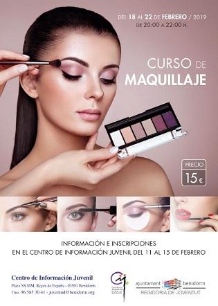 La Concejalía de Juventud de Benidorm ofrece un curso de maquillaje