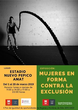La Concejalía de Igualdad y Mujer de Elda organiza una exposición sobre las mujeres en el mundo del deporte