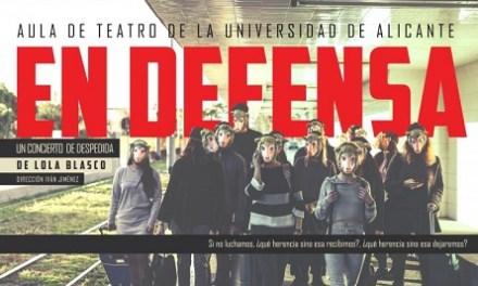 El Aula de Teatro de la UA representa su obra «En defensa. Un concierto de despedida» en el Paraninfo