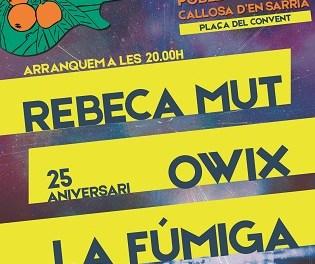 El Nyespro Rock celebrarà la seua tercera edició el pròxim 30 de març en la Plaça del Convent a Callosa d'en Sarrià