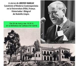 La Biblioteca Municipal de Callosa d'en Sarrià acull el pròxim 28 de març una xarrada-col·loqui sobre Rodolfo Llopis