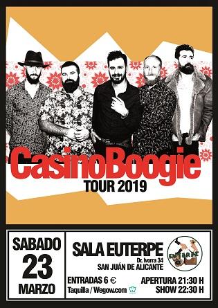 Casino Boogie actuarà a Sant Joan d'Alacant, en un dels seus primers concerts de la gira 2019