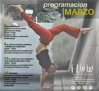 Programación de marzo en FLOW Espacio Vivo de Alicante