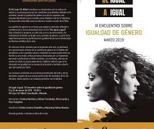 El ciclo 'De igual a igual' del Instituto Gil-Albert reflexiona sobre la perspectiva de género en el periodismo y la gestión cultural