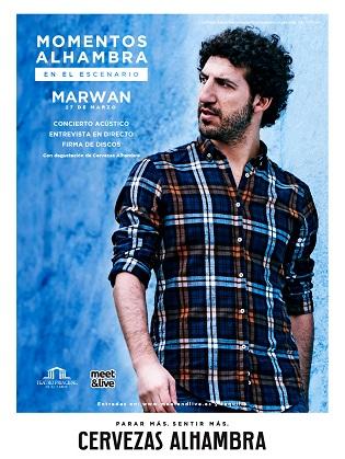 """Cerveses Alhambra porta la música de Marwan al cicle """"Momentos Alhambra en el Escenario"""""""