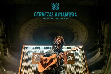 """""""Momentos Alhambra en el Escenario"""" de  Cervezas Alhambra volvió el pasado miércoles con un exclusivo acústico de Marwan"""
