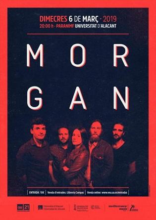 Concierto de Morgan hoy en el Paraninfo de la Universidad de Alicante