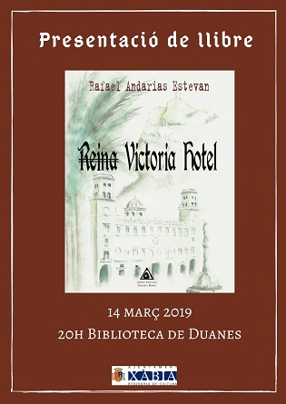 """Rafael Andarias presenta aquest dijous a Xàbia la seua primera novel·la """"Reina Victòria Hotel"""""""