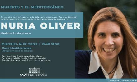 Mujer y tecnología, con la ingeniera Nuria Oliver en Casa Mediterráneo