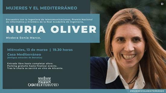 Dona i tecnologia, amb l'enginyera Nuria Oliver a Casa Mediterráneo