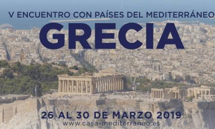 Casa Mediterráneo dedica a Grecia su quinto Encuentro con Países del Mediterráneo