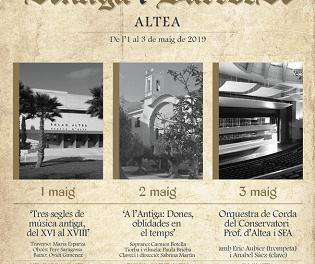 Altea celebra el ciclo 'Música Antiga i Barroca' de 1 al 3 de mayo