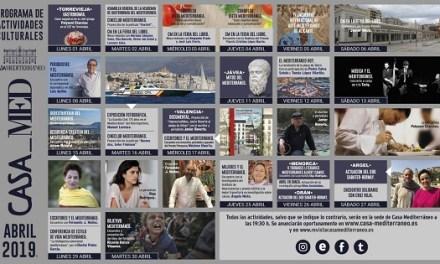 Casa Mediterráneo convierte Alicante en una de las 'tertulias literarias' más importantes de España con su programación del mes de abril
