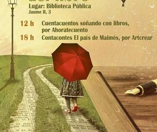 Una lectura col·lectiva d'autors locals i cuentacuentos, activitats per a commemorar el Dia del Llibre a Novelda