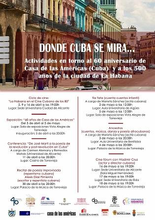 Exposicions, conferències i recitals de poesia a Torrevella entre els actes commemoratius pel 60é Aniversari de Casa de les Amèriques