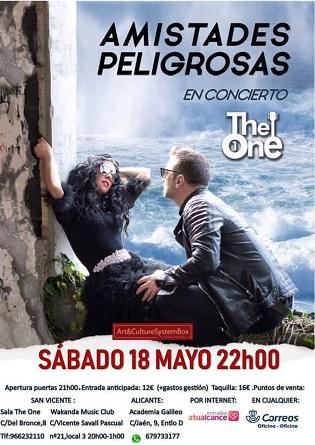 Amistades Peligrosas presenta a Alacant el seu disc Pacto de Sal