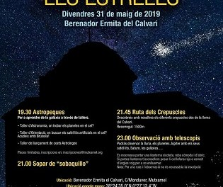 La Ruta de las Estrellas en Mutxamel la noche del 31 de mayo