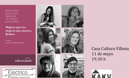 Les DONES QUE VEIG i les DONES QUE CONEC de Villena en un nou llibre de relats a la Casa de Cultura