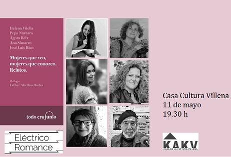 Las MUJERES QUE VEO y las MUJERES QUE CONOZCO de Villena en un nuevo libro de relatos en la Casa de Cultura
