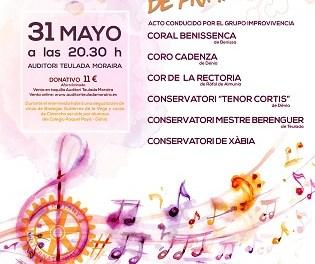 El Auditori Teulada Moraira acoge un concierto benéfico comarcal para la creación de un aula multisensorial
