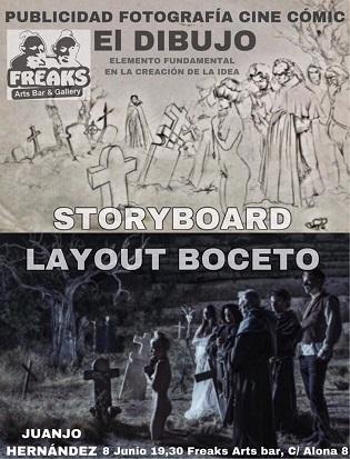 Taller  Storyboard/Layout Project  con  el artista Juanjo Hernández en Freaks Arts